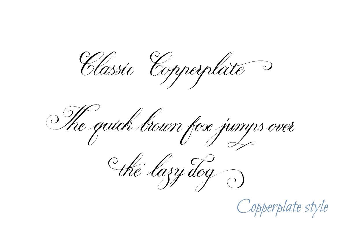 Classic Copperplate Style