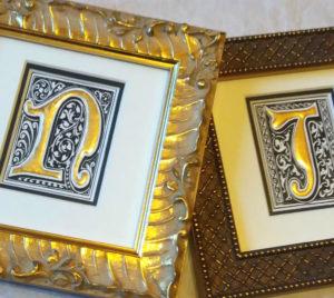 Gold Leaf Letters